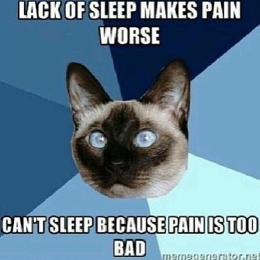A catch 22 of living with endo: not getting enough rest and not being able to sleep